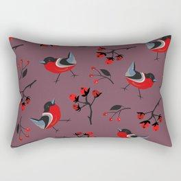 Bullfinch birds Rectangular Pillow