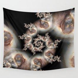Funny Fractal Orang Wall Tapestry