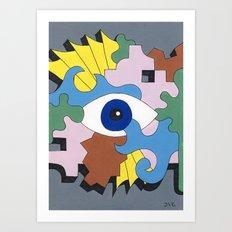 Patterned Eyes | The Left Eye 1/2 Art Print