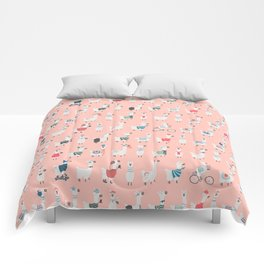 Cool llamas Comforters