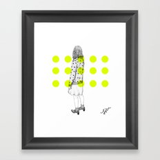 look the other way  Framed Art Print