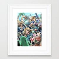 final fantasy Framed Art Prints featuring Final Fantasy Fanfare by StillWater