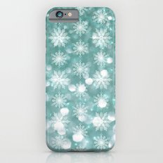 Holiday Teal and Flurries Slim Case iPhone 6s