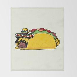 Pug Taco Throw Blanket
