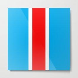TEAM COLORS 10...RED , WHITE LIGHT BLUE Metal Print