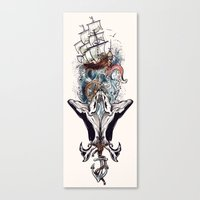 nautical Canvas Prints featuring Nautical by Krys10design