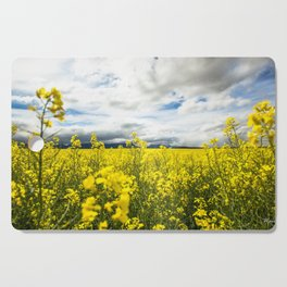 Fields of yellow - Floral Photography #Society6 Cutting Board