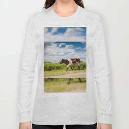 Calf walking in natural landscape Long Sleeve T-shirt