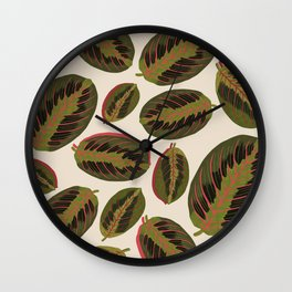 Maranta leaves Wall Clock