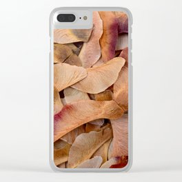 maple tree seeds texture Clear iPhone Case