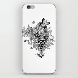 The Butterfly Girl iPhone Skin