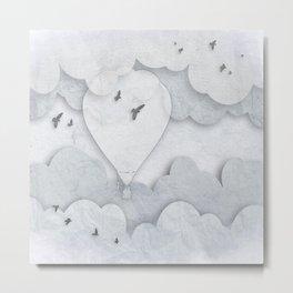Paper Balloons Metal Print