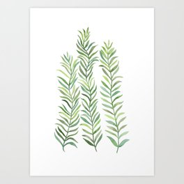 Green Branches Art Print