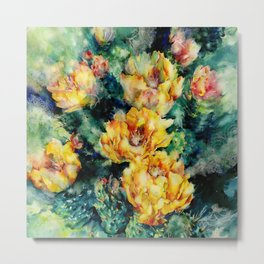 Prickly Pear Cactus 1a by Kathy Morton Stanion Metal Print