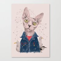 gangster Canvas Prints featuring The Gangster by dogooder