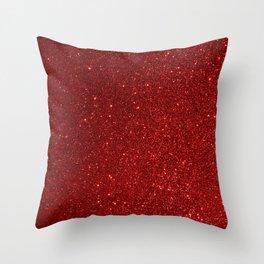 Garnet January Aquarius Birthstone Shimmering Glitter Throw Pillow