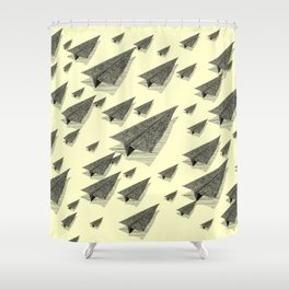 Paper Airplane 13 Shower Curtain