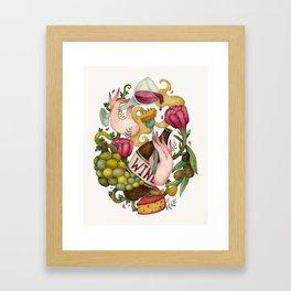 Wine. Kitchen poster Framed Art Print