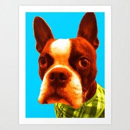 Boba Boston BLue Art Print