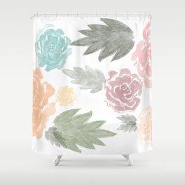 watercolour flowers Shower Curtain