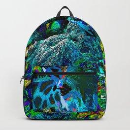GIRAFFE BUTTERFLY AND BIRD Backpack