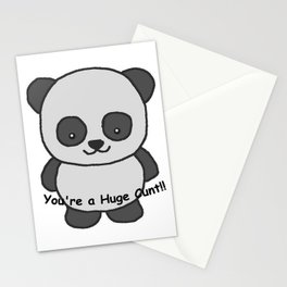 Panda says you're a huge cunt Stationery Cards