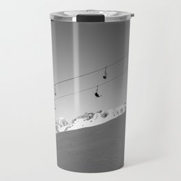 Chairlift in the air, Alps Travel Mug