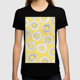 Modern yellow black watercolor abstract circles T-shirt