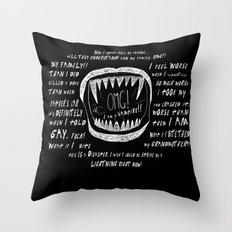OMG! I AM A GAY VAMPIRE!! Throw Pillow