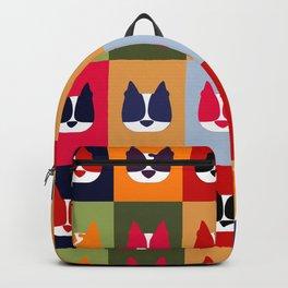 Boston Terrier (BoTe) Pop Art Style Backpack