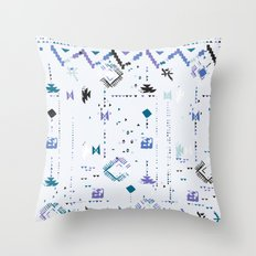 Ethnic and tribal motifs, zigzag lines, brushstrokes and splatters Throw Pillow