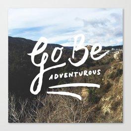 Adventurous // #TravelSeries Canvas Print