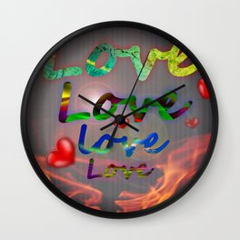 Burning love Wall Clock
