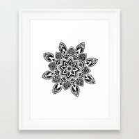 zentangle Framed Art Prints featuring Zentangle by Cady Bogart
