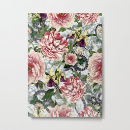 Snakes And Flowers Metal Print