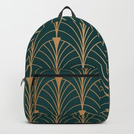 Hidden Sapphire Gold Pattern Backpack