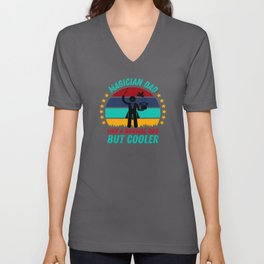 Magician Dad  - Cool Fathers Day Gift Unisex V-Neck