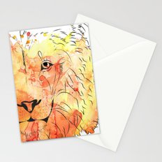 Watercolor Lion Stationery Cards