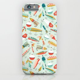 Fishing Lures Light Blue iPhone Case