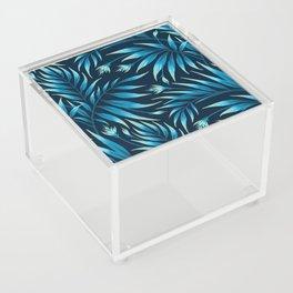 Waikiki Palm - Petrol Blue Acrylic Box