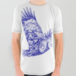 Eagle Rider All Over Graphic Tee