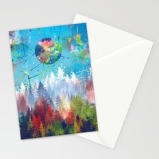 colorful forest 3 Stationery Cards