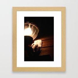 Latern at night Framed Art Print