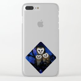 Owl Family Clear iPhone Case