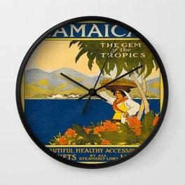 Vintage poster - Jamaica Wall Clock