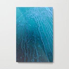 Frozen Lines Metal Print
