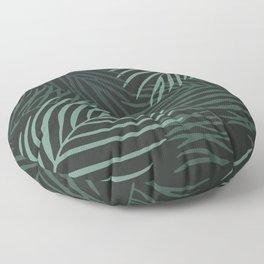 Dark Palm Leaves Floor Pillow
