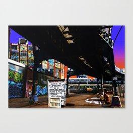 Under the F-Line - New York Canvas Print