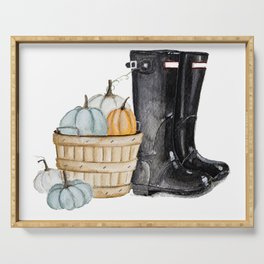 Fall boots Serving Tray