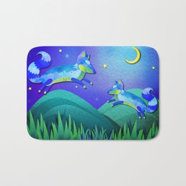 Starlit Foxes Bath Mat